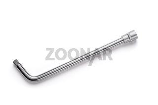 Socket wrench on white background