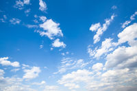 Panoramic view of the blue sky