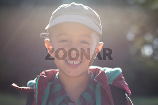 Close-up portrait happy boy