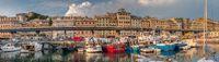 Genoa, Italy - 06 06 2021: View of the old port of Genoa, Italy.
