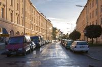 Parking Cars in Wet Street