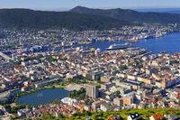 Bergen View from Floyen Mountain, Bergen, Norway