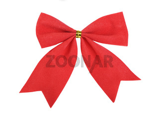 Beautiful red gift bow