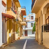 Street in Rethimno in Crete