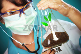 Scientist Checking Health Of A Life