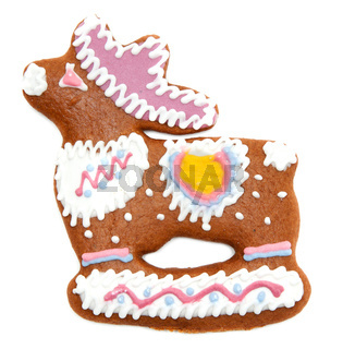 Gingerbread in form decorated by glaze of the deer