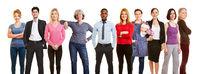 Erwachsenen Menschen als Gruppe als Gesellschaft Konzept