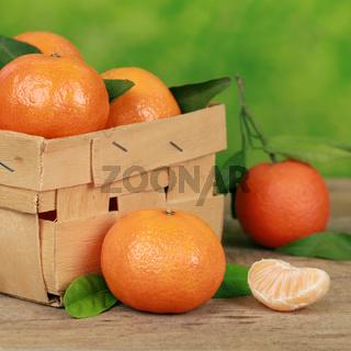 Mandarinen im Körbchen