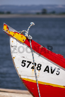 Details of the Traditional 'Moliceiro' Boats used by Fisherman in Ria de Aveiro, Portugal