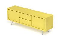 Yellow tv stand