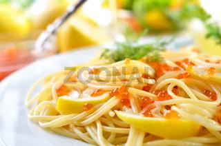Spaghetti mit Kaviar