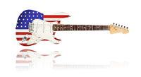 Electric-Guitar, U.S. Flag