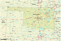 vector road map of the US state of Oklahoma.eps
