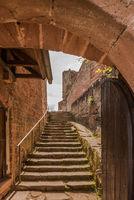 Trifels Castle near Annweiler, Palatinate Forest, Rhineland-Palatinate, Germany