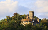 The medieval Castle Krautheim, Hohenlohe, Baden-Württemberg in Germany.