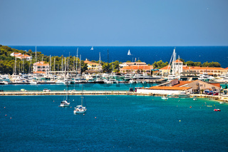 Rogoznica harbor and waterfront view