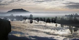 Blick zur Bergehalde Ensdorf, Saarland, Germany