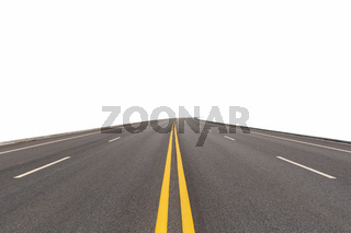 road isolated on white