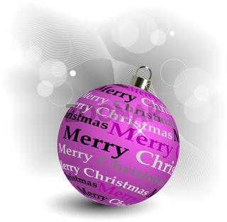 Stylized Christmas ball illustration