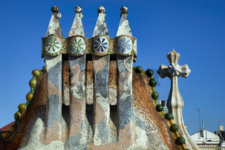 Barcelona. Catalonia. Spain. Casa Batllo is a renowned building located in the center of Barcelona and is one of Antoni Gaudi´s masterpieces