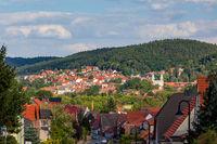 Blick nach Gernrode im Harz