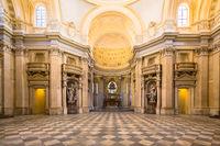 Royal Church in Reggia di Venaria Reale, Turin, Italy.