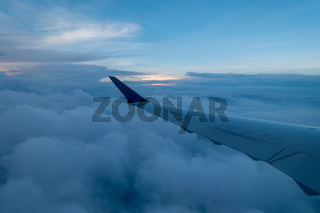 View from the window of an airplane