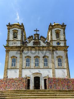 Famous church of Nosso Senhor do Bonfim in Salvador, Bahia