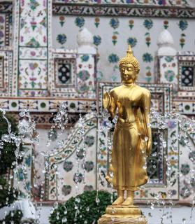 Golden Buddha Image in Fountain, Thailand