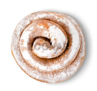 Cinnamon bun isolated