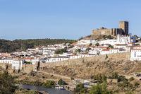 old town of Mértola with castle, Alentejo, Portugal
