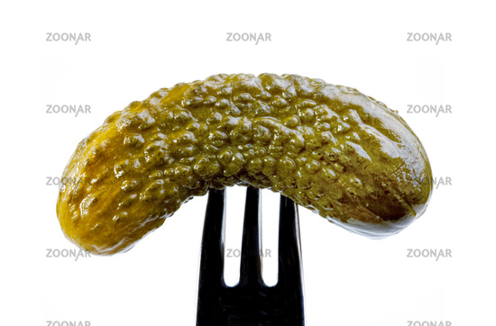 Cucumber on a fork,