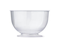 Clear plastic disposable dessert cup