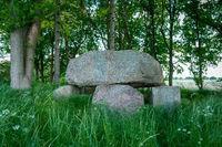 Prehistoric dolmen grave near Putbus Lauterbach