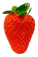 Isolated Organic Strawberry
