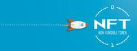Rocket Target NFT Startup Blue Header