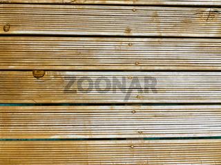 Designer woodwork on the resort wall