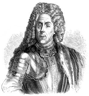 Historical drawing from the 19th Century, portrait of Prince Eug