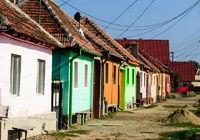 romania colored houses