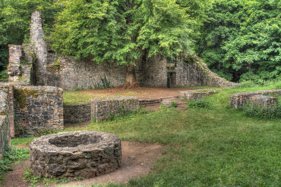 Rodenstein Castle Ruins in the Odenwald