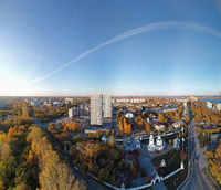 Aerial view of town Novosibirsk