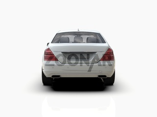 Generic and Brandless Expensive Luxury Car Isolated on White 3d Illustration