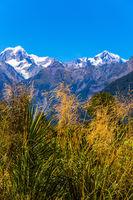 The highest peak Mount Cook