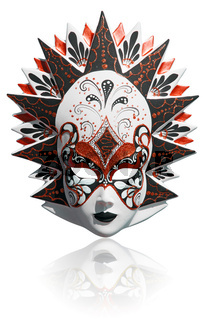 Venetian carnival mask isolated