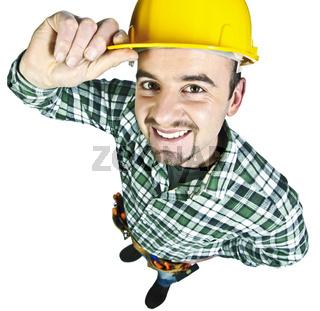 happy funny handyman