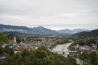 The old town of Bad Toelz in the Isar valley