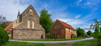 Panoramic view of Zinna Abbey is a former Cistercian monastery, Jueterbog in Brandenburg, Germany.