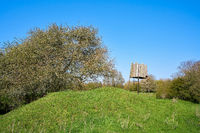 High seat on a meadow in the Wiesenpark, a part of the Herrenkrugpark near Magdeburg in Germany