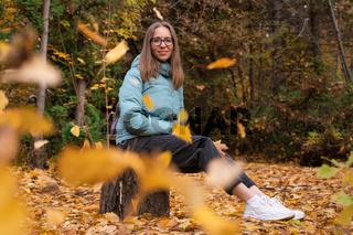 Beautiful autumn woman