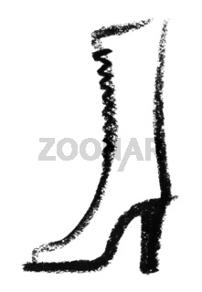 sketched boots